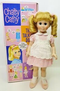 Chatty Cathy The Talking Doll 2001 Danbury Mint Porcelain Doll with Pull String