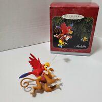Hallmark Keepsake Ornament Aladdin Iago, Abu And Genie 1998 Excellent Condition