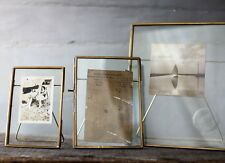 "Antique Brass & Glass Picture Photo Frame 5 x 7"" - Danta by Nkuku"