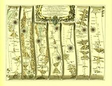 Kendal to Cockermouth &  Egremont and Carlisle  Replica 17c OGILBY Old Road Map