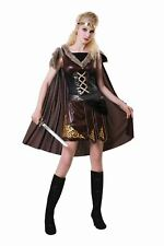 Medieval Warrior Viking Womens Costume Ladies Fancy Dress Outfit Dressup Story
