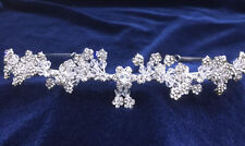 "Beaded Swarovski Crystal Rhinestones For Wedding With Silver Plated. 2-5/8""Tall"