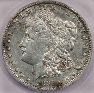 1892-O 1892 Morgan Silver Dollar ICG AU50 details