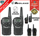 Midland LONG Range Security Two Way Radio GMRS Walkie Talkie Set 18 Mile 2 Pack