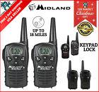 Midland LONG Range Security Two Way Radio GMRS Walkie Talkie Set 18 Mile 2 Pack