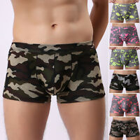 NEW Boxers Briefs Underwear Size S M L XL Mens Stretch Trunks Camouflage Shorts