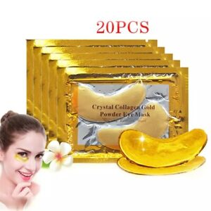 InniCare 20Pcs Crystal Collagen Gold Eye Mask Anti-Aging Dark Circles Acne Beaut