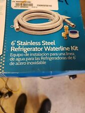 6ft Stainless Steel Refrigerator Water Line Kit