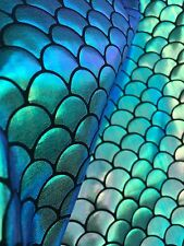 MULTI SPARKLE MERMAID SCALE  HOLOGRAM 4-WAY STRETCH SPANDEX FABRIC BY THE YARD