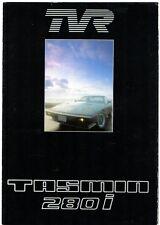 TVR Tasmin 280i c1984-85 USA Market Foldout Sales Brochure