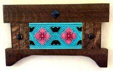 Arts & Crafts Art Nouveau Tile w/ Handcrafted Mission Oak Frame (fumed)