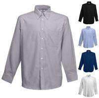 FRUIT OF THE LOOM Herren Hemd Long Sleeve Oxford Shirt Langarm-S-3XL (2)
