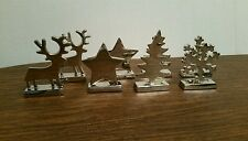 HTF Holiday Season Dinner Table Metal Christmas Holiday Tree Place Card Holders