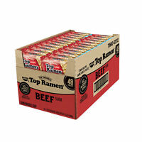 48 Packs Nissin Top Ramen Beef Flavor Oodles of Noodles Soup