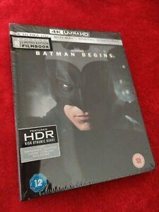 BATMAN BEGINS 4K + BLU RAY FILMBOOK BRAND NEW SEALED
