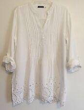 FYLO London Women's Long Sleeve Top - White - Size: XXL                 C-9