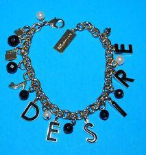 Dolce & Gabbana DESIRE The One Charm Bracelet with Velvet Pouch NEW