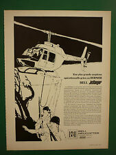 2/1968 PUB BELL HELICOPTER TEXTRON BELL JETRANGER HUBSCHRAUBER FRENCH AD
