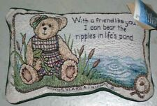 Boyds Bears Summer on Bear Pond Tapestry Word Pillow