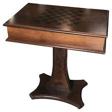 Schachtisch Schach Schachbrett altmodisch Schachspiel aufklappbar Tisch Holz