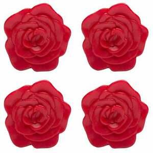 Zak! Designs Trivbits 4pc Silicone Trivet Set - Red Roses