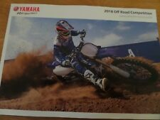 Yamaha Off Road Competition Motorcycle Sales Brochure 2018