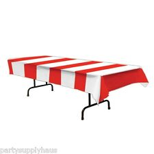 CARNIVAL Circus Tent RED & WHITE STRIPE TABLE COVER Party Decoration PIRATE
