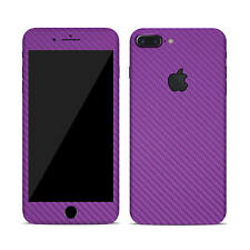 Skin Sticker Wrap Decal for APPLE iPHONE 7 PLUS - Carbon - Matt -Tempered Glass
