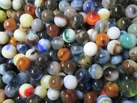 "2 POUNDS 5/8"" 1990's Jabo Classic Mix Marbles Free Shipping LOT 2"