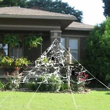 Halloween Props Decorations Haunted House Outdoor Decor Giant Scary Spider Web
