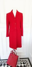 Luxury Red Designer Classic Chic Wool Blend Smart Timeless Jacket Coat  10