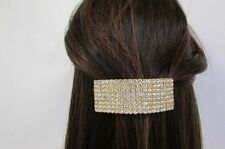 Women Large Gold Metal Ponytail Holder Silver Bling Dressy Fashion Jewelry Fancy