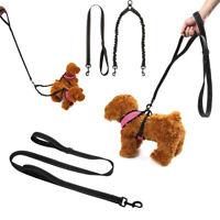 No-Tangle Double-Dog Leash Coupler Lead Splitter Adjustable Pet Dog Puppy Nylon
