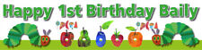 The Very Hungry Caterpillar Personalised Birthday Banner Party Idea Decoration