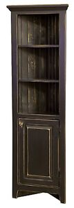 Amish Rustic Primitive Corner Cabinet Farmhouse Cottage Cupboard Distressed Wood