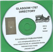 Glasgow Directorey of 1787 [CD]