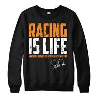 Racing Is Life Jumper Steve McQueen Quote Top Retro Unisex Adult Kids Jumper Top