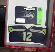 Monday Night Game<>Cool Sleeve<> New 2015 Seattle Seahawks Starbucks Gift Card