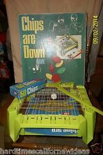 VINTAGE 1970 IDEAL CHIPS ARE DOWN BOARD GAME COMPLETE