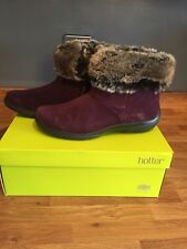 Ladies Romance Soft Suede Hotter Ankle Boots Size 5.5 BNWT
