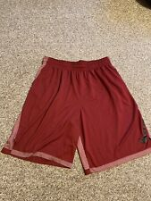 🔥Nike Dri-Fit Men's Basketball/Athletic Shorts - Size Xxl - Red/Maroon