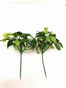 2X LARGE ARTIFICIAL CHRISTMAS MISELTOE SPRIG SPRAY PICKS NEW YEARS KISSING NEW