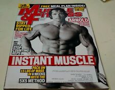 Muscle & Fitness Magazine November 2011 Arnold Schwarzenegger Ripped Meal Plan