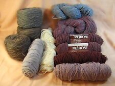 Melrose Cravenella and other Wool Rayon Blend 11 Skeins