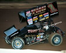 SAMMY SWINDELL #1 TMC WoO SPRINT CAR ACTION 8x10 GLOSSY PHOTO (FROM NEGATIVE)