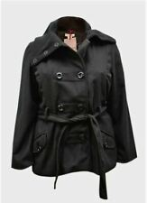 Quality Wool Coat By Paris Blues Double Breasted Sizes 18/20 & 22/24 BNWT RRP$80