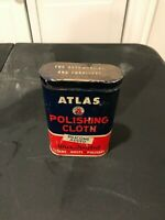 VINTAGE 1950s 1960s ATLAS POLISHING CLOTH CAN