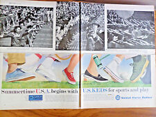1959 U. S. Keds Shoes Ad Summertime Begins with Keds Sports & Play Blue Label
