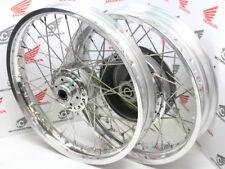 "Honda CB 750 cuatro k0 k1 Front + rear wheel Alu Flat shoulder 2,15x19"" and 3,5x18"""