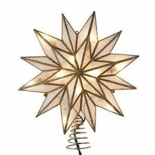 12 Point Capiz Gold Star Christmas Tree Topper UL3161